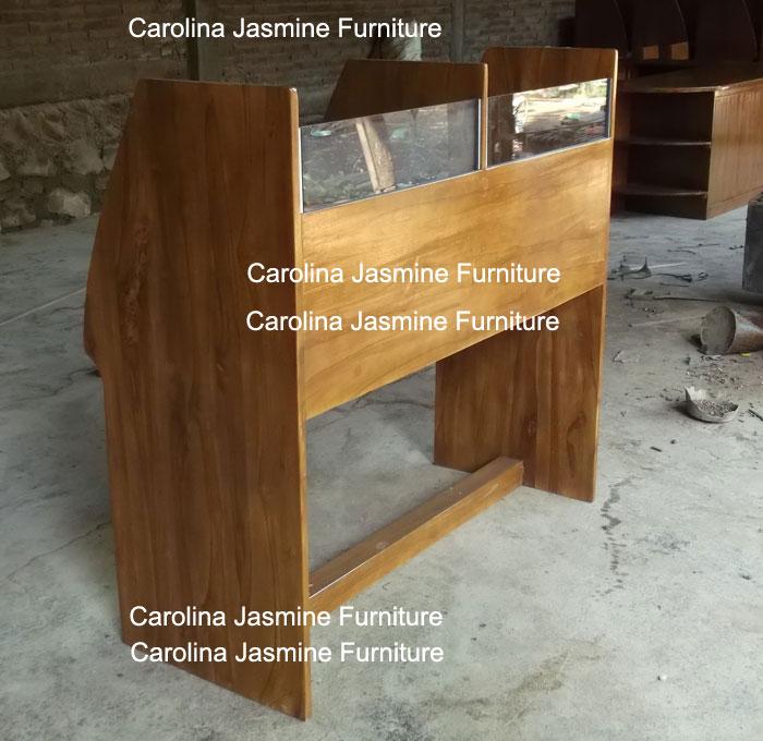 meja lab bahasa kayu jati